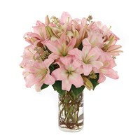 Simply Lily-Pink flower bouquet from Ingallina's online gift shop