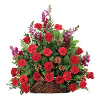Classic Fireside Sympathy Basket of Flowers, available at Ingallina's Gifts online