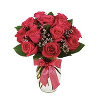 Hot pink rose bouquet of flowers for sale