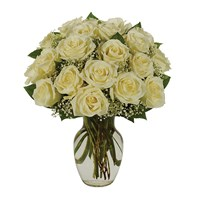 White rose flower bouquet for sale at Ingallina's Gifts