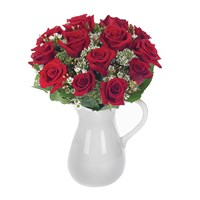 Classic rose flower bouquet in a pitcher for sale