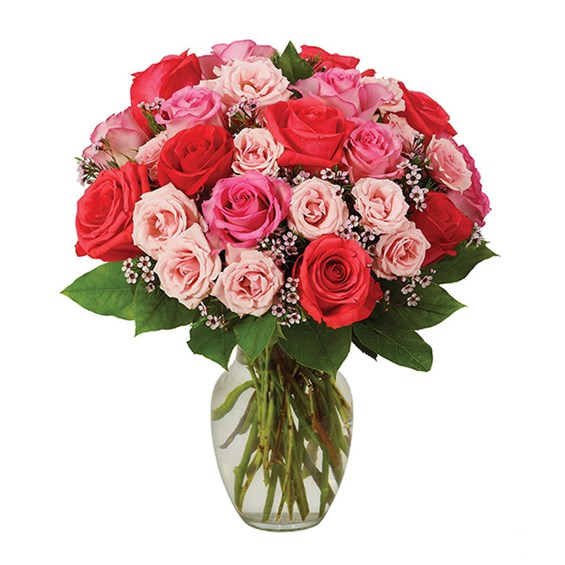 Sweetest rose flower bouquet, pink, available at Ingallina's online gift shop