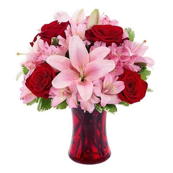 """Make me Blush"" bouquet of flowers from Ingallina's online gift shop"
