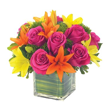 Lovely lily & rose celebration flower bouquet for sale from Ingallina's