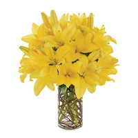Simply Lily-Yellow flower bouquet from Ingallina's Gifts